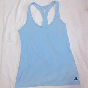 Blue Champion workout top